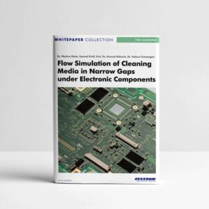 flow-simulation-of-cleaning-media-in-narrow-gaps-under-electronic-components