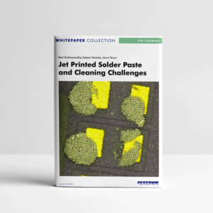 Jet Printed Solder Paste and Cleaning Challenges